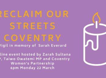 Reclaim Our Streets Vigil